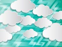 Abstracte toespraakbellen in de vorm van wolken Stock Fotografie