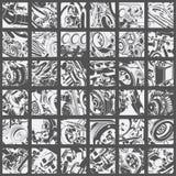 Abstracte toestellensamenstellingen Stock Foto