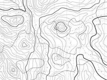 Abstracte topografische kaart Stock Afbeelding