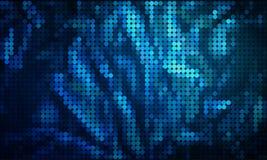 Abstracte transparante groene en blauwe punten op zwarte stock illustratie