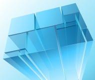 Abstracte transparante modules Stock Afbeelding