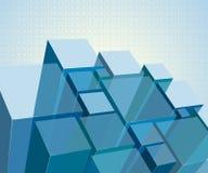 Abstracte transparante modules Stock Fotografie