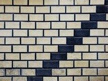 Abstracte treden, Rieten muurdecoratie illusie Royalty-vrije Stock Foto