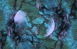 Abstracte trillende groenachtig blauwe textuur, Achtergrond stock foto