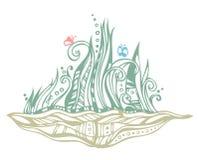 Abstracte tuinillustratie Stock Fotografie