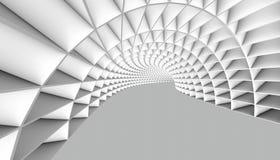 Abstracte Tunnel 3d Achtergrond Stock Fotografie