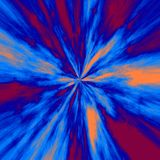 Abstracte tunnel in psychedelische kleuren Stock Foto's