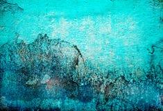Abstracte turkooise de textuurachtergrond van Grunge Stock Afbeeldingen