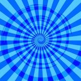 Abstracte Uitbarsting Ray Background Blue Stock Afbeeldingen