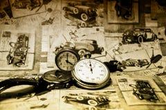 Abstracte uitstekende conceptuele tijd Stock Foto's