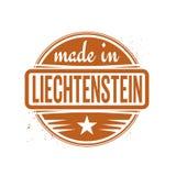 Abstracte uitstekende die zegel of verbinding met tekst in Liechtenstein wordt gemaakt vector illustratie