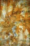 Abstracte uitstekende grungeachtergrond met sterren royalty-vrije illustratie
