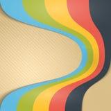 Abstracte Uitstekende Lintenachtergrond. Stock Foto's