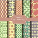 Abstracte uitstekende patroonreeks, vector Royalty-vrije Stock Foto