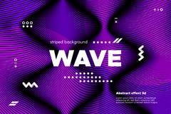 Abstracte Ultraviolette Lineaire Achtergrond stock illustratie