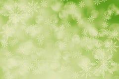 Abstracte vakantieachtergrond, Kerstmislichten, sneeuwvlokken Royalty-vrije Stock Foto's