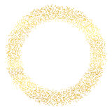 Abstracte vakantieachtergrond met hand getrokken deeltjes Het heldere gouden malplaatje van het stipkader Vector illustratie Royalty-vrije Stock Afbeeldingen