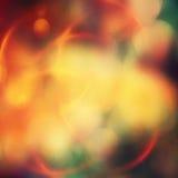 Abstracte vakantieachtergrond, mooie glanzende Kerstmislichten Stock Afbeelding