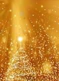 Abstracte vakantieachtergrond, mooie glanzende Kerstmislichten Royalty-vrije Stock Afbeeldingen