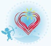 Abstracte valentijnskaart Royalty-vrije Stock Afbeeldingen