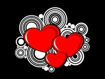 Abstracte valentijnskaartenachtergrond Stock Afbeelding