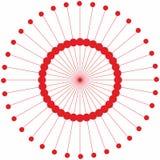 Abstracte van de cirkel geometrische ronde ring vector als achtergrond Stock Fotografie