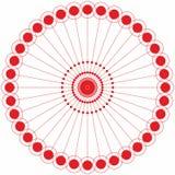 Abstracte van de cirkel geometrische ronde ring vector als achtergrond Royalty-vrije Stock Foto