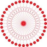 Abstracte van de cirkel geometrische ronde ring vector als achtergrond Royalty-vrije Stock Afbeelding