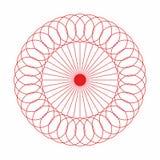 Abstracte van de cirkel geometrische ronde ring vector als achtergrond Stock Foto