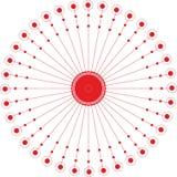 Abstracte van de cirkel geometrische ronde ring vector als achtergrond Royalty-vrije Stock Fotografie