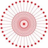 Abstracte van de cirkel geometrische ronde ring vector als achtergrond Stock Afbeelding