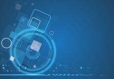 Abstracte van de de computerkubus van de structuurkring de technologie commerciële bac Stock Foto's