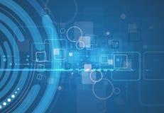 Abstracte van de de computerkubus van de structuurkring de technologie commerciële bac Royalty-vrije Stock Foto's