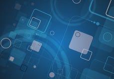 Abstracte van de de computerkubus van de structuurkring de technologie commerciële bac Stock Foto