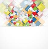 Abstracte van de de computerkubus van de structuurkring de technologie commerciële bac Royalty-vrije Stock Fotografie