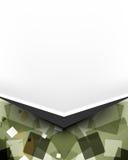 Abstracte van de het pamflet geometrische veelhoek van de ontwerpbrochure de elementenachtergrond Stock Foto