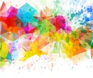 Abstracte van de kleurenplons illustratie als achtergrond Stock Afbeelding