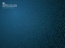 Abstracte van de de lijndecoratie van gradiënt blauwe technologie de stijlachtergrond Illustratie vectoreps10 royalty-vrije illustratie