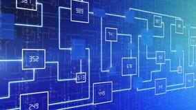 Abstracte van de technologie elektronische kring LIJN als achtergrond stock video