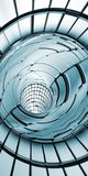 Abstracte van de tunneltechnologie verticaal als achtergrond Royalty-vrije Stock Afbeeldingen