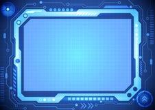 Abstracte van het bedrijfs computertechnologieconcept achtergrond, vectorillustratie Royalty-vrije Stock Foto's