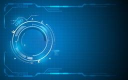 Abstracte van het het conceptenkader van de technologieinnovatie het malplaatjeachtergrond Stock Foto's