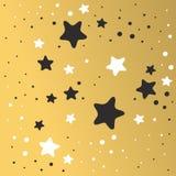 Abstracte van het van de Achtergrond Kerstmis gouden ster ruimte grafische de kunst vectorillustratie ontwerpbehang Stock Afbeeldingen