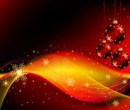 Abstracte van Kerstmis vector als achtergrond Stock Foto's
