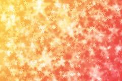 Abstracte van Sterbokeh Gele Rode Gradiënt Als achtergrond vector illustratie