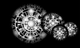 Abstracte van Technologiecirkels Vector Als achtergrond Stock Afbeelding