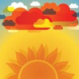 Abstracte van Wolken Vector Als achtergrond Stock Afbeelding