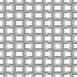 Abstracte Vastgestelde geometrisch van kunst moderne geometrische naadloze patternA van zwart-witte naadloos Vector nieuwe styl v vector illustratie