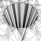 Abstracte Vector 171 van het Gat Royalty-vrije Stock Fotografie