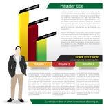 Abstracte vector bedrijfsachtergrond met grafiek Stock Fotografie